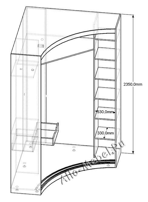 Радиусный угловой шкаф купе своими руками 54
